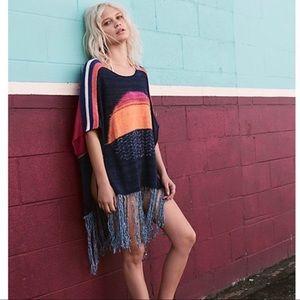 Free People NWT Sunset Fringe Sweater